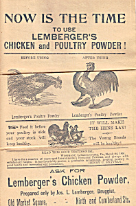 Lemberger S Chicken And Poultry Powder Tc0211