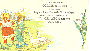 Collis and Lees Trade Card tc0078 (Image1)