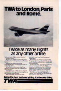 Twa Twice As Many Flights Ad Twa08 1970s