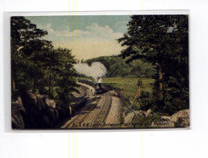 Steam Train B and A RR   Postcard u0029 (Image1)
