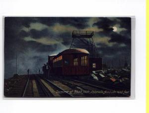 Train at Pikes Peak Summit  Postcard u0045 (Image1)