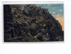 Steam Train Las Animas Canyon CO Postcard u0056 (Image1)