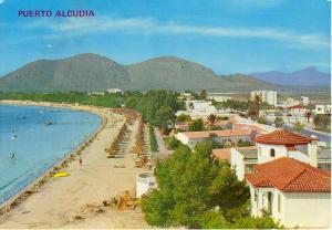 Puerto De Alcudia Spain  Postcard u0114 (Image1)