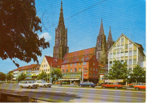 Street Scene Ulm  Germany  Postcard u0121 (Image1)