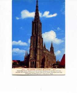 Ulm Cathedral Germany Postcard v0003 (Image1)