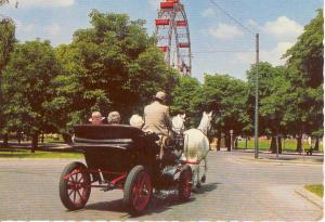 Horse and Coach Scene Vienna Austria Postcard v0020 (Image1)