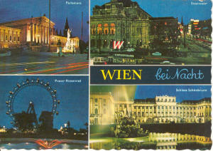 Vienna at Night Postcard (Image1)