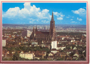 Ulm Germany From Mount Michael Postcard V0101