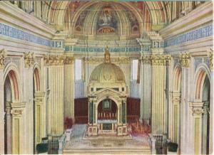 Interior Scene Italian Basilica Italy Postcard v0124 (Image1)