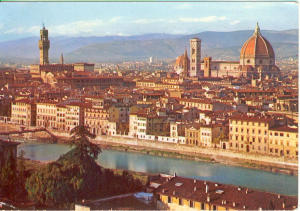 Firenze Italy Panorama View Postcard v0133 (Image1)
