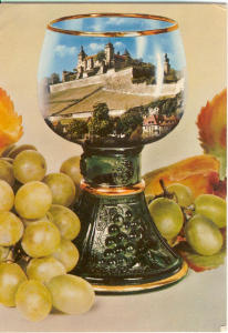 Grapes And Wine Goblet German Postcard V0184