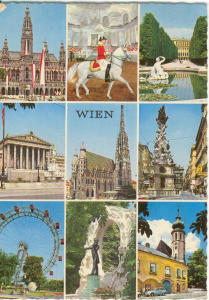 Vienna Austria Multiview Postcard v0190 (Image1)