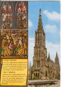 Cathedral In Ulm Germany Postcard V0202