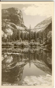 Mirror Lake Yosemite CA Postcard v0222 (Image1)