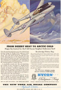 P 38 Lightning  WWII   Ad w0005 (Image1)