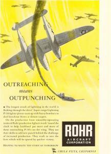 Rohr Aircraft P38 Lightning Ad (Image1)