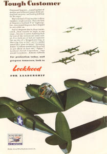 Lockheed WWII P-38 Ad (Image1)