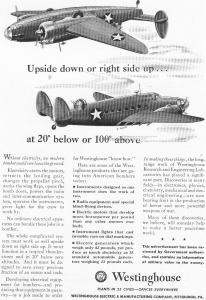 Westinghouse  WWII Ship Aircraft Products Ad (Image1)