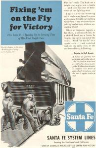 Santa Fe RR WWII Car Repair Ad w0026 (Image1)