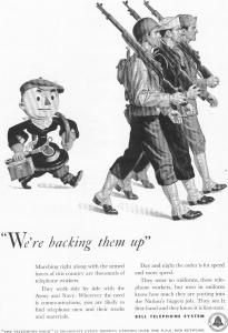 Bell Telephone Backing Them Up Ad 1942 (Image1)