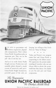 Union Pacific RR Freight in War Ad (Image1)