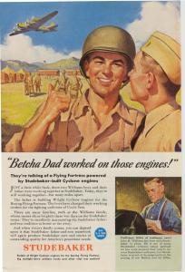 Studebaker WWII  Cyclone Engine Ad w0103 (Image1)