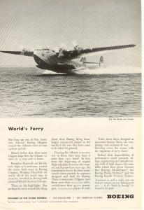Boeing WWII Clipper Ad w0166 (Image1)