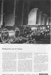 Boeing WWII Cost of Victory Ad w0268 (Image1)