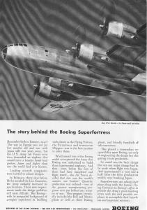 Boeing WWII B 29 Superfortress Ad w0307 (Image1)