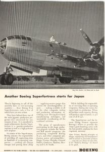 Boeing WWII B 29 in Service Ad w0325 (Image1)
