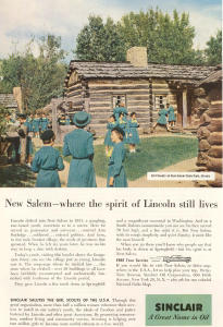 Sinclair Oil New Salem Il Girl Scout Ad W0375