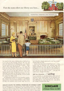 Sinclair Oil Independence Hall Ad W0377