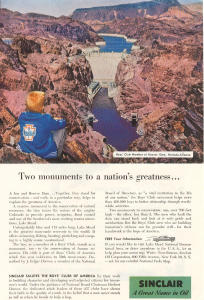 Sinclair Oil Hoover Dam Boy Scout Ad W0379