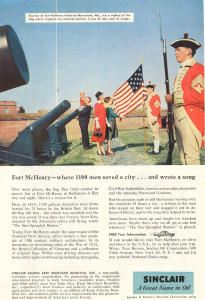 Sinclair Oil Fort Mchenry Ad W0382