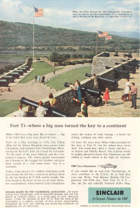 Sinclair Oil Fort Ticonderoga  Ad (Image1)