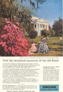 Sinclair Oil Southern Mansions Ad W0386