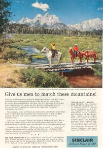 Sinclair Oil Grand Teton National Park Ad (Image1)