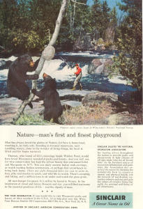 Sinclair Oil Nicolet National Forest Ad W0390
