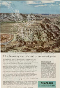 Sinclair Oil T.Roosevelt National Park Ad (Image1)