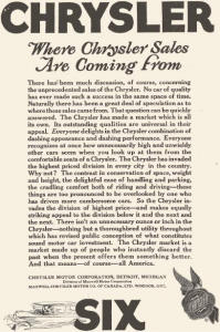 1924 Chrysler Six Sales Ad w0401 (Image1)
