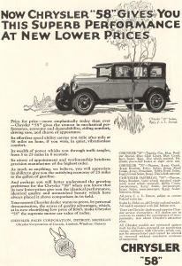 1926 Chrysler 58 Sedan Ad (Image1)