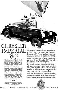 1927 Chrysler Imperial Roadster  Motor Car Ad (Image1)