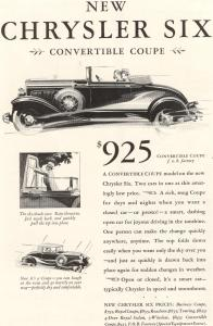 1930 Chrysler Six Convertible Coupe Ad (Image1)