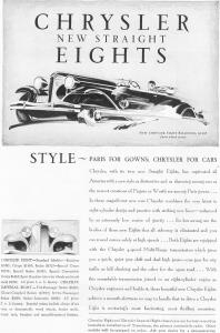 1930 Chrysler New Straight Eights Ad (Image1)