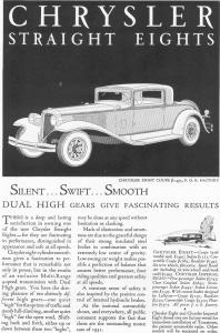 1931 Chrysler Straight Eights Ad (Image1)