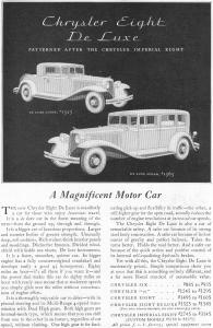 1931 Chrysler Eight De Luxe Ad (Image1)