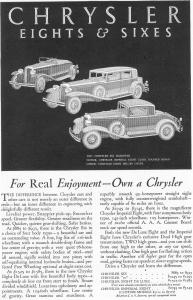 1931 Chrysler Eights and Sixes Ad (Image1)