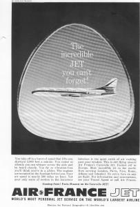 Air France Caravelle Jetliner Ad W0452