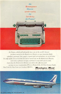 Remington Rand Air France Ad w0467 (Image1)