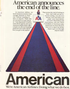 American Airlines Check-in Ad W0470